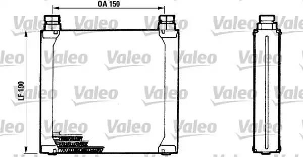 816748 VALEO Масляный радиатор, двигательное масло