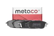 3000193 METACO Колодки тормозные передние к-кт