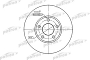 PBD2650 PATRON Диск тормозной