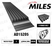 AD15205 MILES Ремень поликлиновой