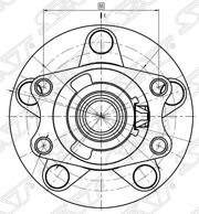 ST3785A009 SAT Ступичный узел задн. MMC ASX/LANCER/OUTLANDER/RVR 4WD 07