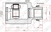 MZ638 SAT Шрус внутренний RH MAZDA 3 BK 03-08