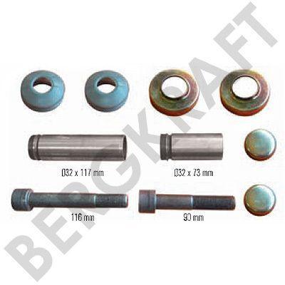 BK1613003AS BERGKRAFT Ремонтный комплект суппорта (Meritor:SJ4001) For Meritor Type Calipers LRG524-529/532/533/562/563