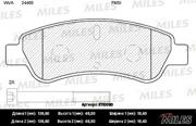 E110090 MILES Колодки тормозные CITROEN JUMPER/FIAT DUCATO/PEUGEOT BOXER (250) 06- задние