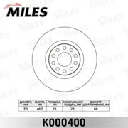 K000400 MILES Диск тормозной AUDI A4 00-/A6 97-05/VW PASSAT 00-05 передний D=312мм.