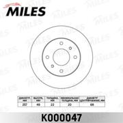 K000047 MILES Диск тормозной