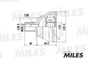 GA20024 MILES Шарнирный комплект, приводной вал