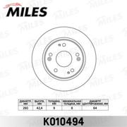 K010494 MILES Диск тормозной HONDA CIVIC 06- задний D=260мм.