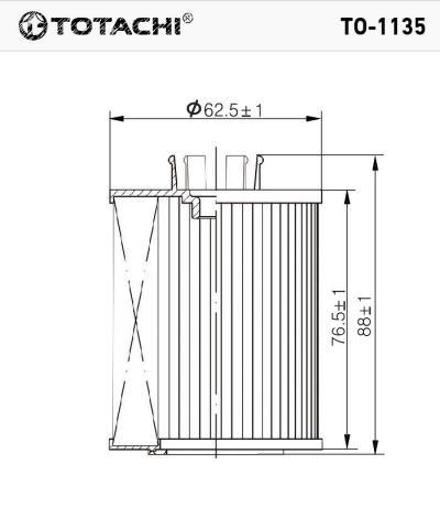 TO1135 TOTACHI TOTACHI TO-1135 650307 MANN HU 7128x