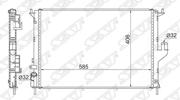 RN0002081 SAT Радиатор RENAULT LOGAN/SANDERO 1.4/1.6 с кондиционером 08-/RENAULT DUSTER 1.6/2.0 без AC/LADA LARGUS