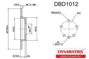 DBD1012 DYNAMATRIX-KOREA диск тормозной