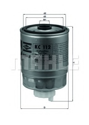 KC112 MAHLE Топливный фильтр