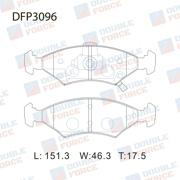 DFP3096 DOUBLE FORCE Колодки тормозные дисковые