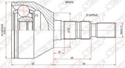OP013 SAT Шрус наружный OPEL ASTRA H 04-10/ASTRA J 10-/ZAFIRA B 05-11