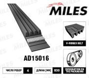AD15016 MILES Ремень поликлиновый 4PK830