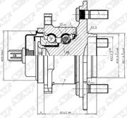 ST4245042040 SAT Ступичный узел задн. TOYOTA RAV4 ##A3# 2WD/MARK X ZIO