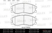 E400103 MILES Колодки тормозные CHEVROLET CAPTIVA/OPEL ANTARA 2.0D/2.4/3.2 07- передние