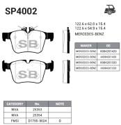 SP4002 SANGSIN BRAKE Колодки тормозные задние