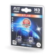 A78568S AVS Лампа галогенная AVS ATLAS /5000К/ H3.12V.55W (блистер, 2 шт.)