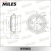 K111412 MILES Барабан тормозной