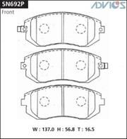 SN692P ADVICS Дисковые тормозные колодки
