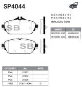 SP4044 SANGSIN BRAKE Колодки тормозные передние