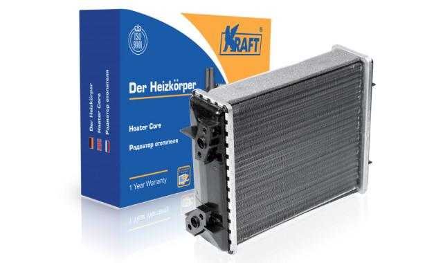 Радиатор отопителя ваз-2101-07 (2-х рядный) алюминиевый KRAFT KT104002