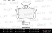 E410010 MILES Колодки тормозные ( Заменен на E410004 ) AUDI 96-/CITROEN 99-/RENAULT 98-/PEUGEOT 00-