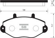 SP2019 SANGSIN BRAKE Колодки тормозные передние