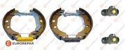 E170227 EUROREPAR Комплект тормозов, барабанный тормозной механизм