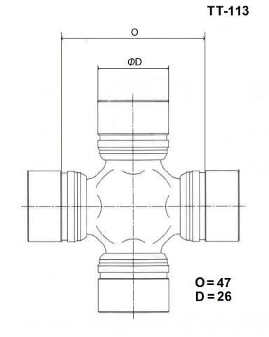 TT113 TOYO Крестовина карданного вала