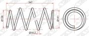 ST03301 SAT Комплект пружин 2шт передние TOYOTA CAMRY 03