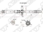 ST3401A022K SAT Вал карданный MITSUBISHI ASX GA2W 10-OUTLANDER CW4W 05