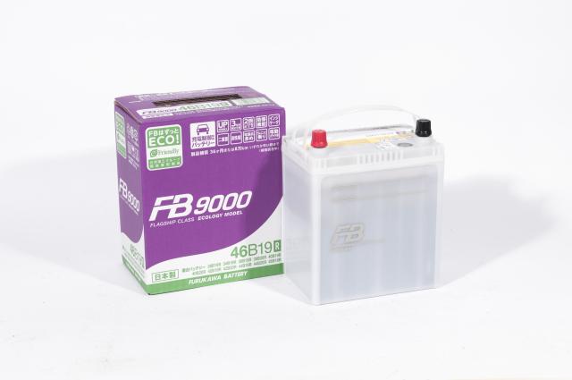 46B19R FURUKAWA Батарея аккумуляторная 43А/ч 370А 12В прямая поляр. тонкие клемы