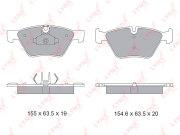 BD1434 LYNXAUTO Колодки тормозные передние