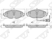 ST8V0698151B SAT Колодки тормозные перед VAG A3/KODIAQ/OCTAVIA/GOLF 11-