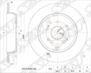ST42510SWA000 SAT Диск тормозной зад HONDA CR-V III RE5, 07-
