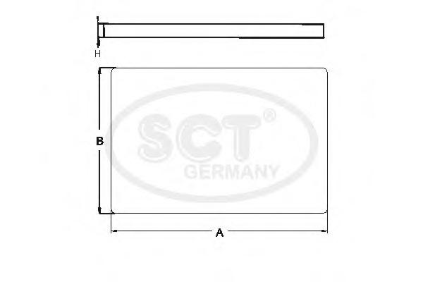 SA1162 SCT Фильтр салона