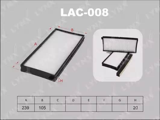 LAC008 LYNX Фильтр салонный (комплект 2 шт.)