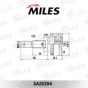 GA20284 MILES Шарнирный комплект, приводной вал