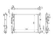 HY00162 SAT Радиатор HYUNDAI SOLARIS / KIA RIO III 17
