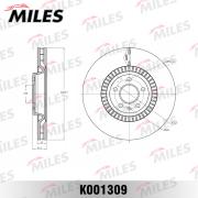 K001309 MILES Диск тормозной передний вентилируемый, AUDI A6/A7 quattro 11-, D=356 мм. (ISO 9001).