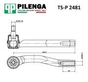 TSP2481 PILENGA Рулевой наконечник правый Chevrolet Aveo
