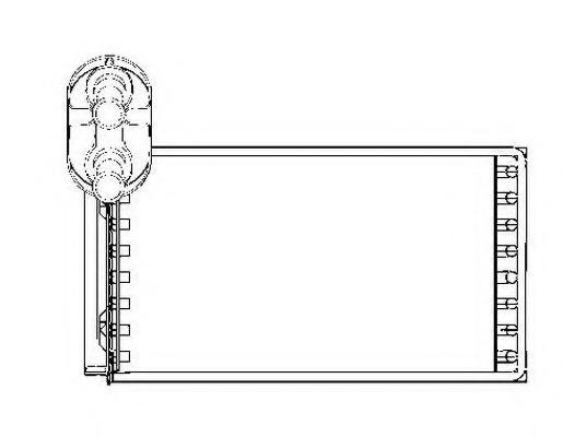 53550 NRF Теплообменник, отопление салона