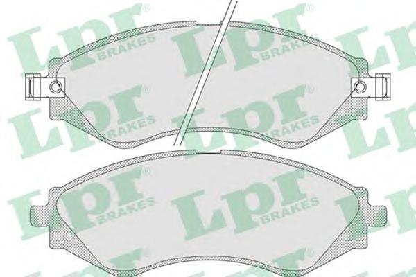 05P729 LPR Комплект тормозных колодок, дисковый тормоз