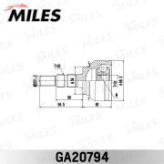 GA20794 MILES Шарнирный комплект, приводной вал