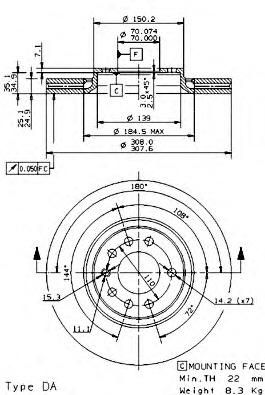 09936910 BREMBO Тормозной диск