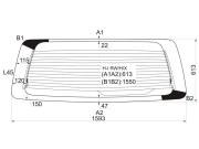 HIRWHX XYG Стекло заднее (крышка багажника) с обогревом HYUNDAI H1-STAREX 97-07