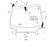 308VCLFWX XYG Стекло лобовое в клей PEUGEOT 308 3D/5D HBK 07