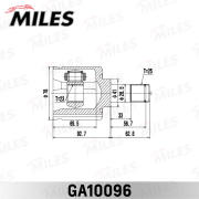 GA10096 MILES Шарнирный комплект, приводной вал
